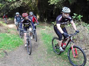 Mountainbiker in der Haardt